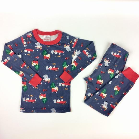 NWT Hanna Andersson Red Girls Long Sleeve Pajamas Set Pants Long Johns 120 7